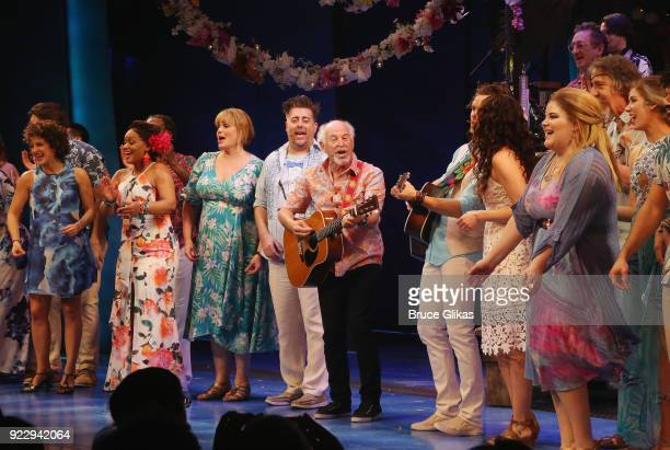 Jimmy Buffett and the cast celebrate 2018 National Margarita Day February 22 at the new Jimmy Buffett Musical Escape to Margaritaville on Broadway at...