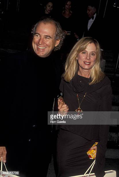 Jimmy Buffett and wife Jane Slagsvol attend Random House New Yorker Party Honoring Richard Avedon on September 27 1993 at the New York Public Library...