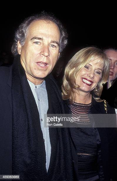 Jimmy Buffett and wife Jane Slagsvol attend the opening of David Copperfield's Dreams and Nightmares on December 5 1996 at the Martin Beck Theater in...