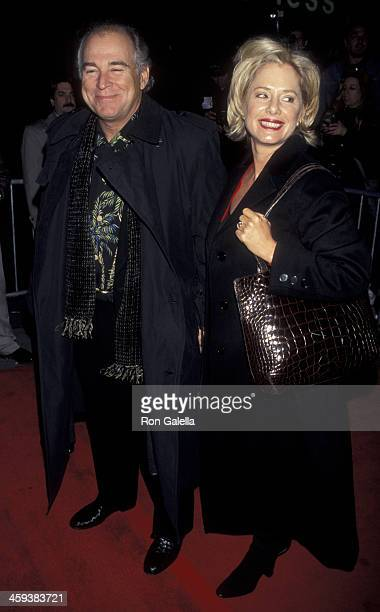Jimmy Buffett and wife Jane Slagsvol attend the premiere of Meet Joe Black on November 2 1996 at the Ziegfeld Theater in New York City