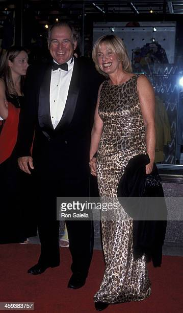 Jimmy Buffett and wife Jane Slagsvol attend the taping of Saturday Night Live 25 on September 26 1999 at NBC Studios in New York City
