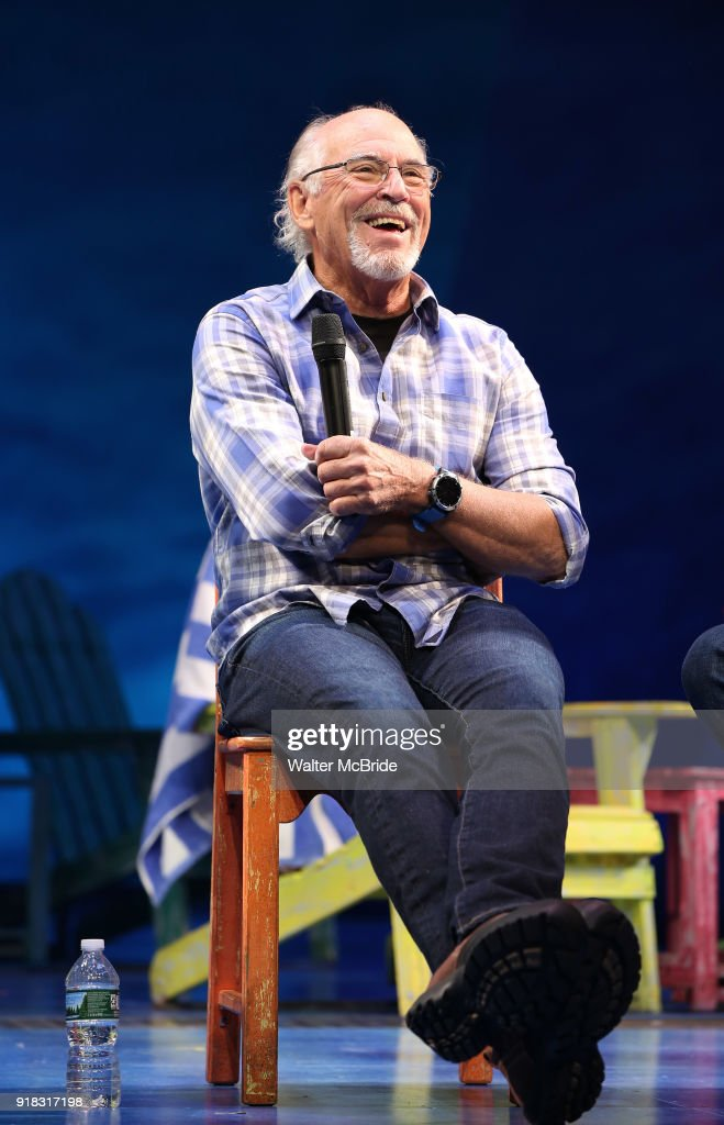 Jimmy Buffett during the Press Sneak Peak for the Jimmy Buffett Broadway Musical 'Escape to Margaritaville' on February 14, 2018 at the Marquis Theatre in New York City.