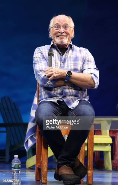 Jimmy Buffett during the Press Sneak Peak for the Jimmy Buffett Broadway Musical 'Escape to Margaritaville' on February 14 2018 at the Marquis...