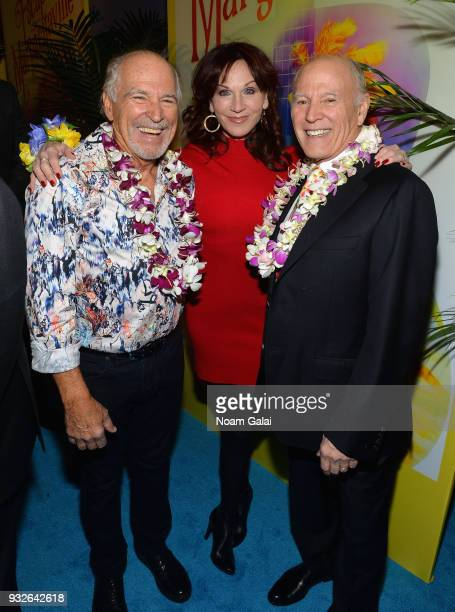 Jimmy Buffett Marilu Henner and Frank Marshall attend the Broadway premiere of 'Escape to Margaritaville' the new musical featuring songs by Jimmy...
