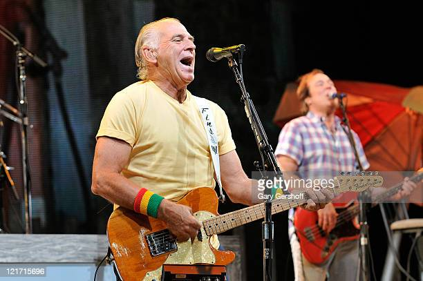 Jimmy Buffett performs at Nikon at Jones Beach Theater on August 19 2011 in Wantagh New York