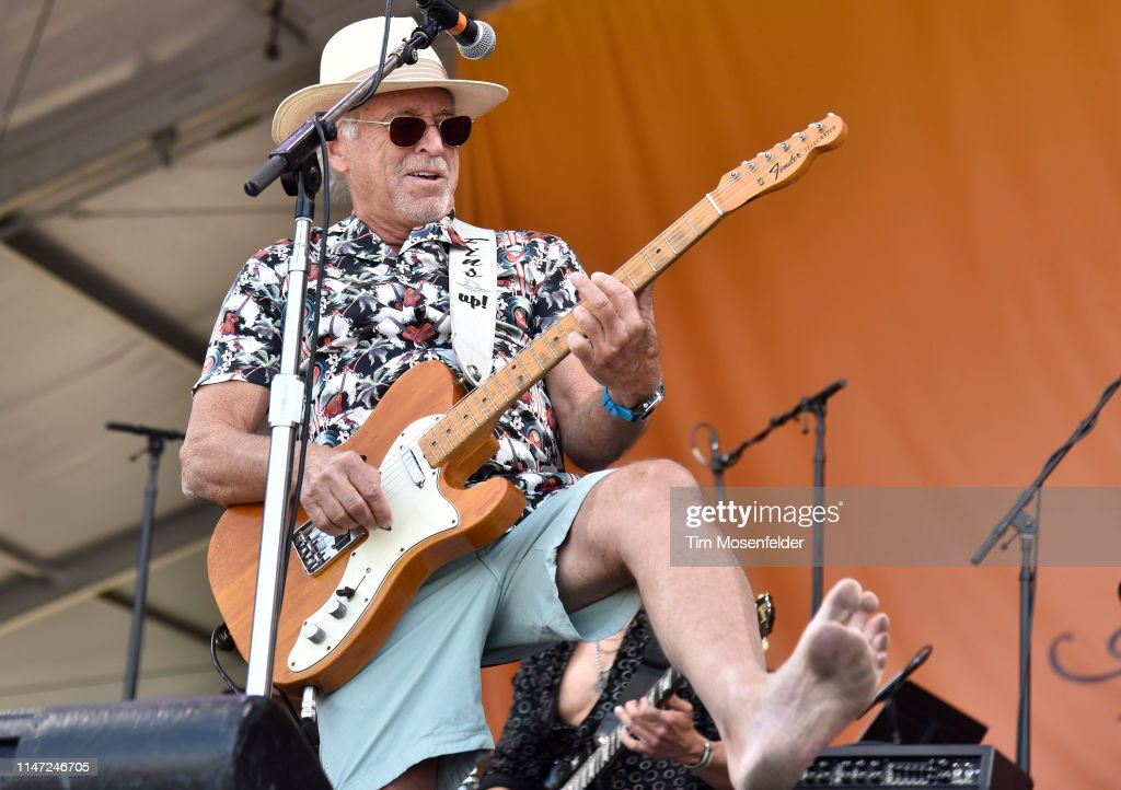 Jimmy Buffett performs during a Tribute to Allen Toussaint at the