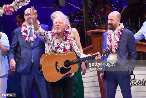 Jimmy Buffett takes opening night bow during the Broadway premiere of 'Escape to Margaritaville' the new musical featuring songs by Jimmy Buffett at...