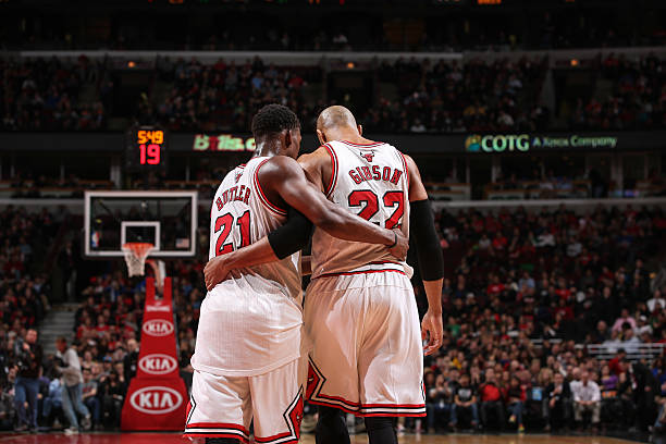 Butler and Gibson, of the Chicago Bulls