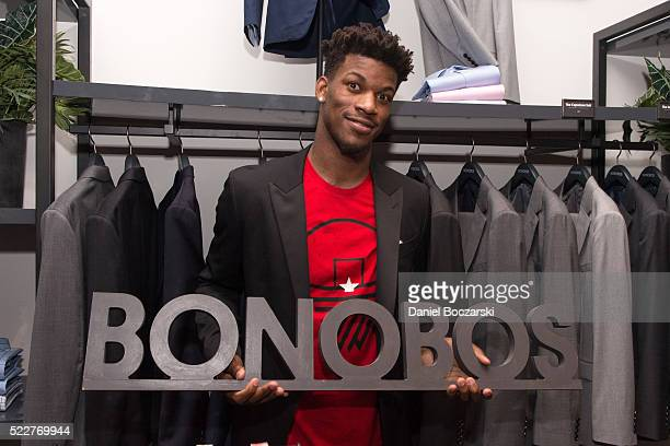 Jimmy Butler attends Bonobos Michigan Avenue Launch Party at Bonobos Guideshop on April 20 2016 in Chicago Illinois