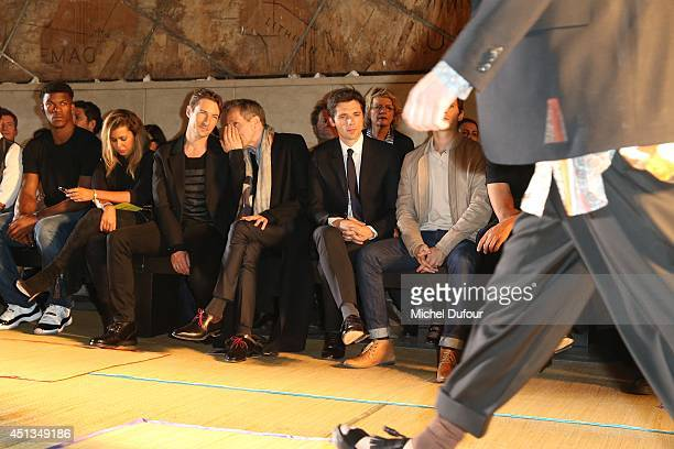 Jimmy Butler Benn Northover Michael Wincott and Raphael Personnaz attend the Cerruti show as part of the Paris Fashion Week Menswear Spring/Summer...