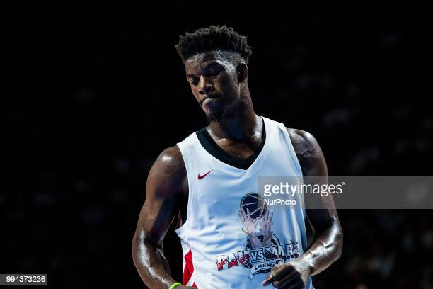 Jimmy Butler from United States of America of Minnesota Timberwolves during the charity and friendly match Pau Gasol vs Marc Gasol with European and...
