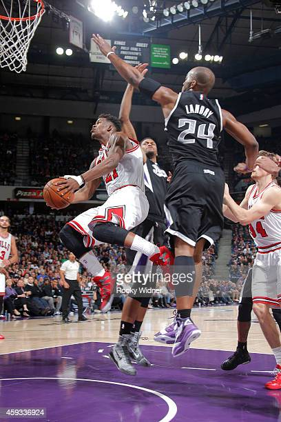 Jimmy Butler of the Chicago Bulls goes up for a shot against the Sacramento Kings on November 20 2014 at Sleep Train Arena in Sacramento California...