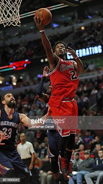 Jimmy Butler of the Chicago Bulls goes up past Marc Gasol of the Memphis Grizzlies for a shot on his way to a gamehigh 24 points at the United Center...