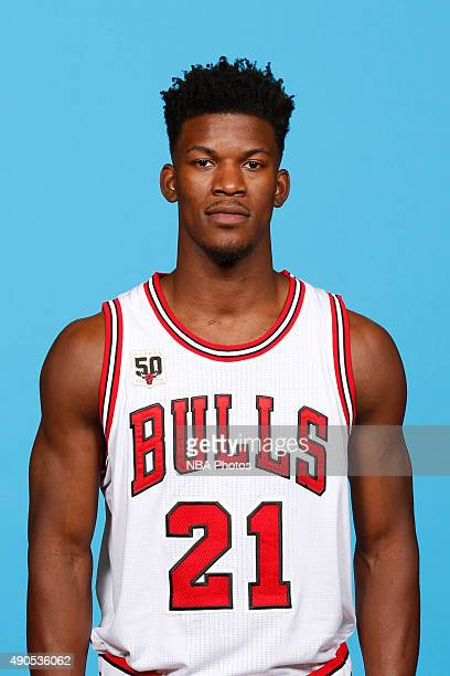 Jimmy Butler of the Chicago Bulls poses for a portrait during Media Day on September 28 2015 at the Advocate Center in Chicago Illinois NOTE TO USER...