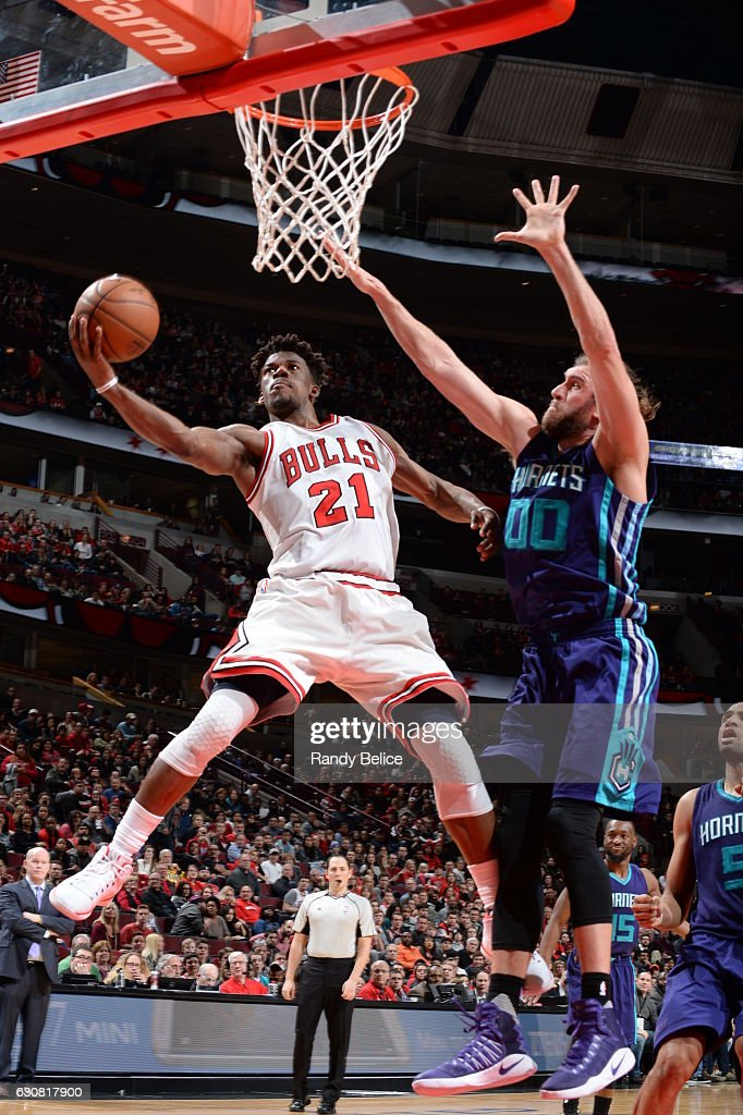 Jimmy Butler of the Chicago Bulls shoots the ball against