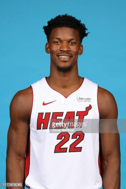 Jimmy Butler of the Miami Heat poses for a head shot during media day on September 30 2019 at American Airlines Arena in Miami Florida NOTE TO USER...