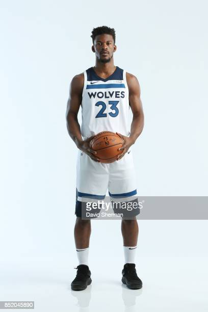 Jimmy Butler of the Minnesota Timberwolves poses for portraits during the 2017 Media Day on September 22 2017 at the Minnesota Timberwolves and Lynx...