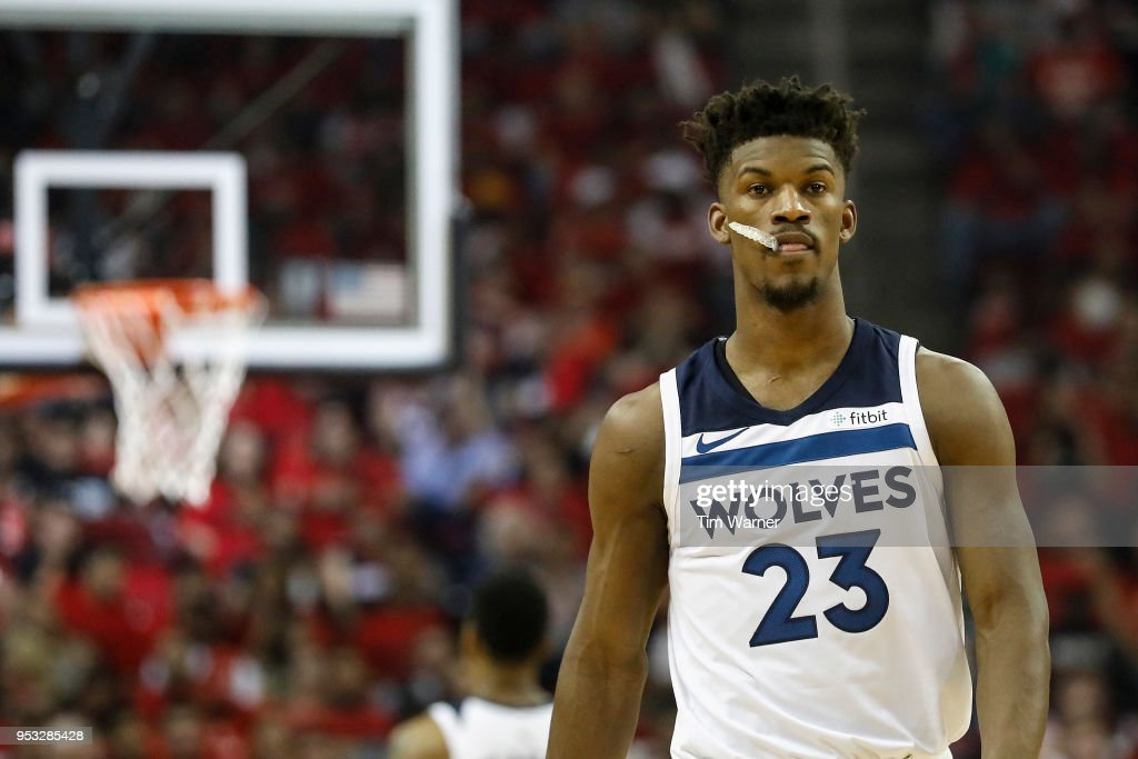 Minnesota Timberwolves v Houston Rockets - Game Five : News Photo