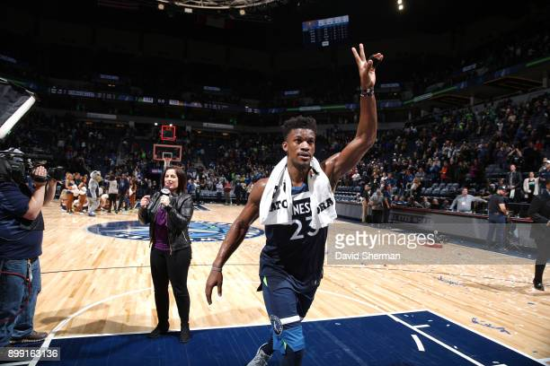 Jimmy Butler of the Minnesota Timberwolves scored 12 of the Timberwolves 14 points in overtime to lead them to a 128125 victory over the Denver...