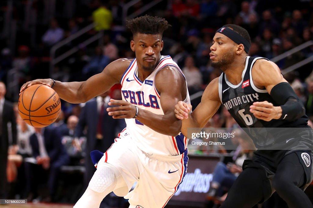 Philadelphia 76ers v Detroit Pistons : News Photo
