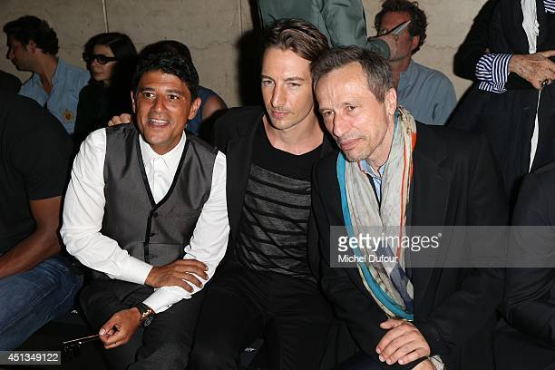 Jimmy Butler Said Taghmaoui and Michael Wincott attend the Cerruti show as part of the Paris Fashion Week Menswear Spring/Summer 2015 on June 27 2014...