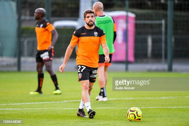 Jimmy Cabot of Lorient during the French Ligue 2 match between Red star and Lorient at Stade Pierre Brisson on September 14 2018 in Beauvais France
