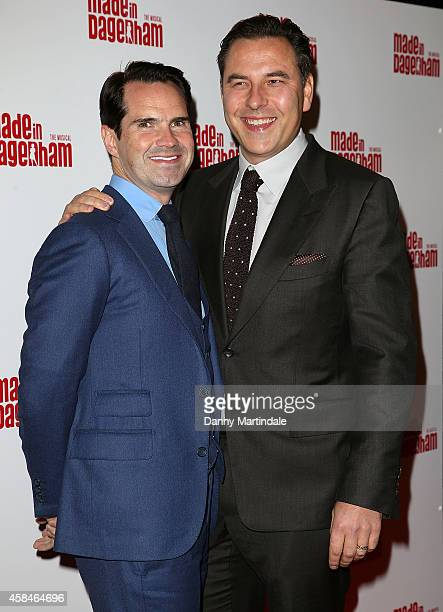 Jimmy Carr and David Walliams attends the Made In Dagenham press night at Adelphi Theatre on November 5 2014 in London England