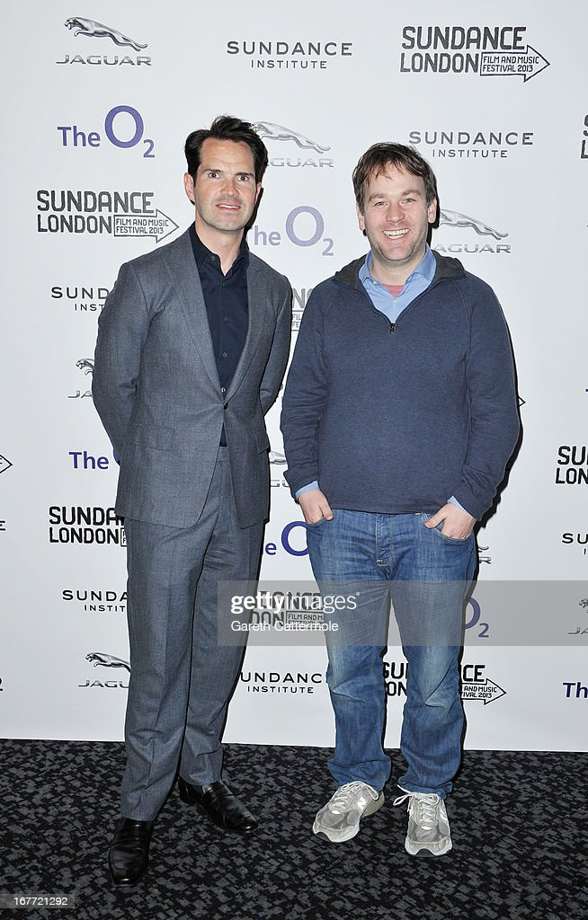 Jimmy Carr and director Mike Birbiglia attend the 'Sleepwalk With Me' screening during the Sundance London Film And Music Festival 2013 at Sky Superscreen O2 on April 28, 2013 in London, England.