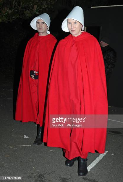 Jimmy Carr and his longtime partner Karoline Copping leaving a Halloween party hosted by Jonathan Ross at his house in north London