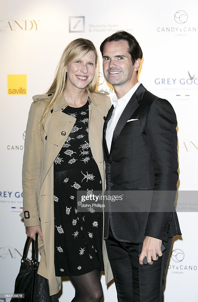 Jimmy Carr and Karoline Copping attends the Candy magazine Autumn/Winter 2013 launch party at Saatchi Gallery on October 15, 2013 in London, England.