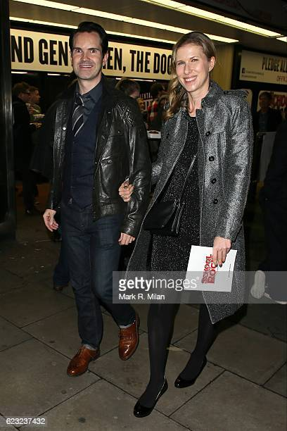 Jimmy Carr attending the School of Rock the musical VIP press night on November 14, 2016 in London, England.