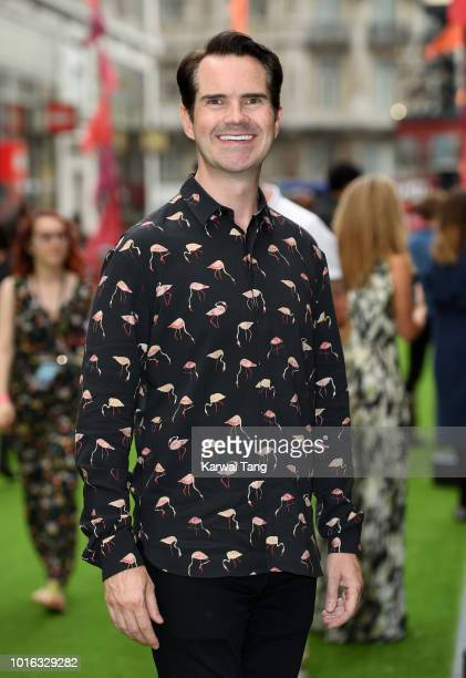 Jimmy Carr attends the World Premiere of 'The Festival' at Cineworld Leicester Square on August 13 2018 in London England