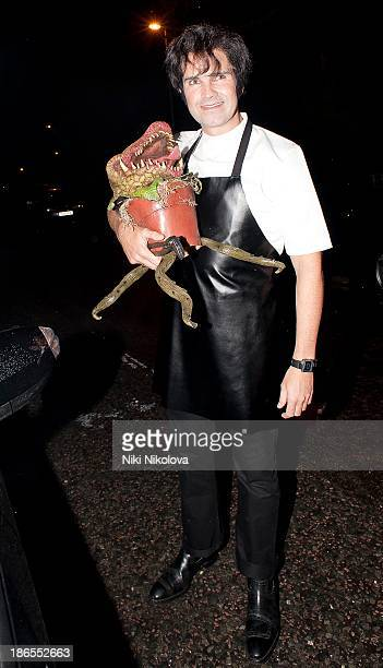 Jimmy Carr is sighted leaving Jonathan Ross' Halloween PartyHampstead on October 31 2013 in London England