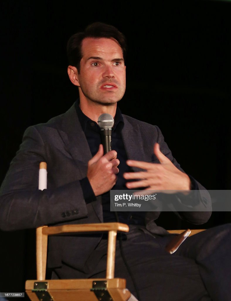 Jimmy Carr speaks at the 'Sleepwalk With Me' screening during the Sundance London Film And Music Festival 2013 at Sky Superscreen O2 on April 28, 2013 in London, England.