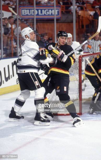 Jimmy Carson of the Los Angeles Kings on March 6 1993 at the Great Western Forum in Inglewood California