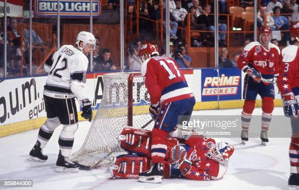 Jimmy Carson of the Los Angeles Kings on May 11 1993 at the Great Western Forum in Inglewood California