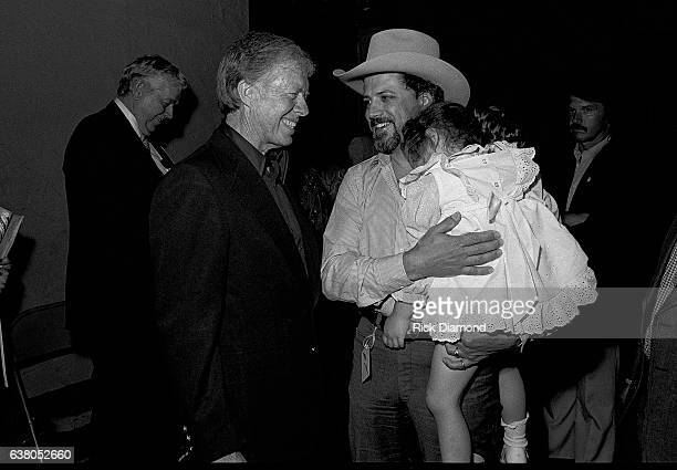 L/R Jimmy Carter and Alex Hodges Nederlander Concerts during Charlie Daniels Band Benefit for Jimmy Carter's Presidential Campaign at The Fox Theater...