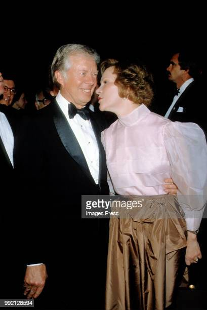 Jimmy Carter and Rosalyn Carter circa 1980 in New York