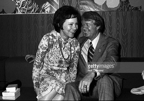 Jimmy Carter and Rosalynn Carter attend Former Governor of Georgia Jimmy Carter's fundraiser for his 1976 Presidential run at Royal Coach Inn Atlanta...