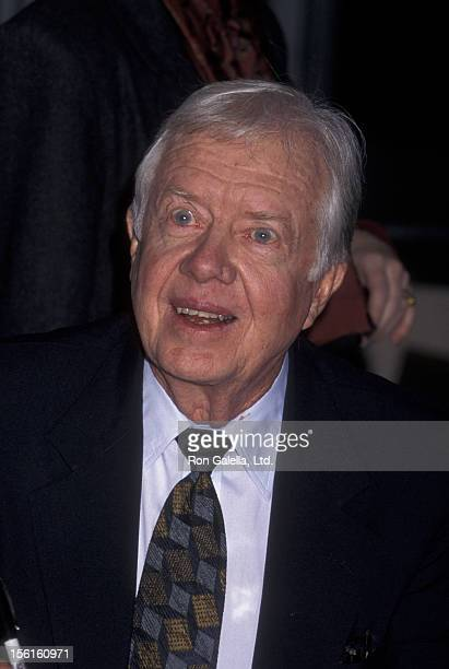 Jimmy Carter attends book party for 'The Little Baby Snoogle Fleejer' on December 13 1995 at Barnes and Noble in New York City