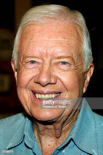 Jimmy Carter former President of the United States attends the booksigning for his new book The Hornet's Nest at Vromans Bookstore on December 09...