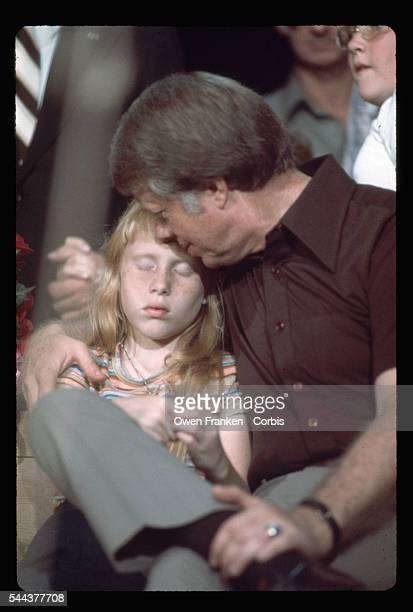 Jimmy Carter Sitting with Daughter Amy
