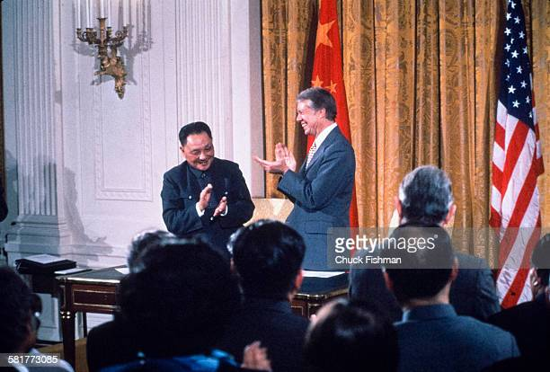 Jimmy Carter with Chinese leader Deng Xiao Ping, Washington, DC, January 1979.