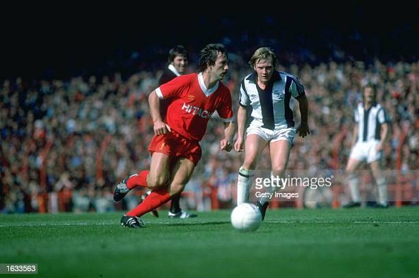 Jimmy Case of Liverpool in action during a Football League Division One match against West Bromwich Albion at Anfield in Liverpool England Mandatory...