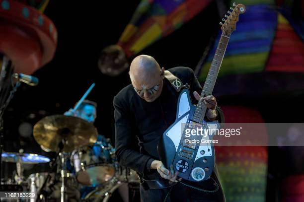 Jimmy Chamberlin and Billy Corgan from The Smashing Pumpkins perform on the NOS stage on day 3 of NOS Alive festival on July 13 2019 in Lisbon...