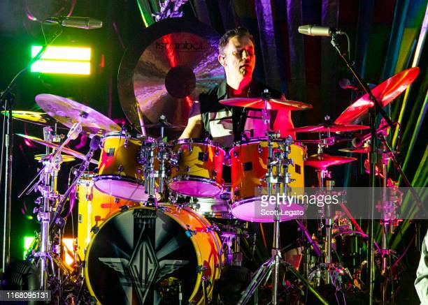 Jimmy Chamberlin of Smashing Pumpkins performs at DTE Energy Music Theater on August 14 2019 in Clarkston Michigan