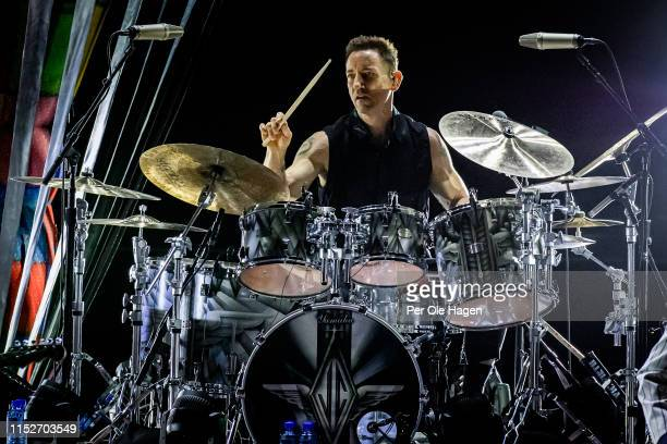 Jimmy Chamberlin of Smashing Pumpkins performs at Oslo Spektrum on May 30 2019 in Oslo Norway