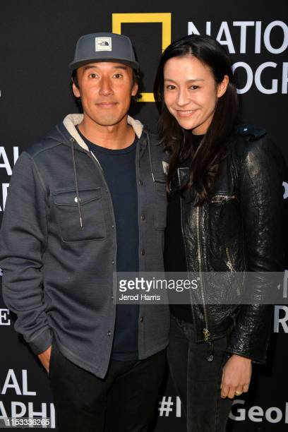 Jimmy Chin and Chai Vasarhelyi attend National Geographic's Contenders Showcase at The Greek Theatre on June 02 2019 in Los Angeles California