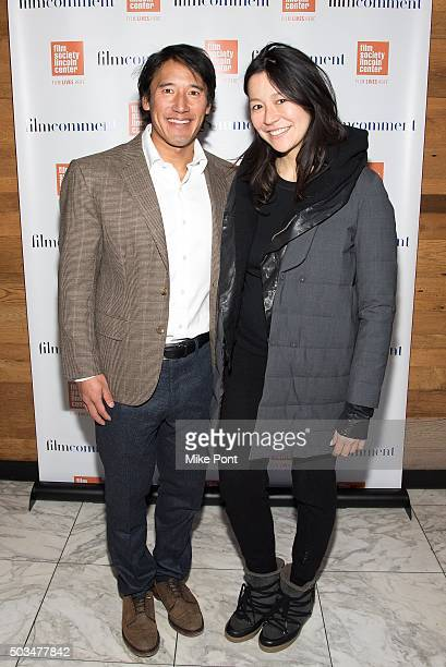 Jimmy Chin and Elizabeth Chai Vasarhelyi attend the 2016 Film Society Of Lincoln Center Luncheon at Scarpetta on January 5 2016 in New York City
