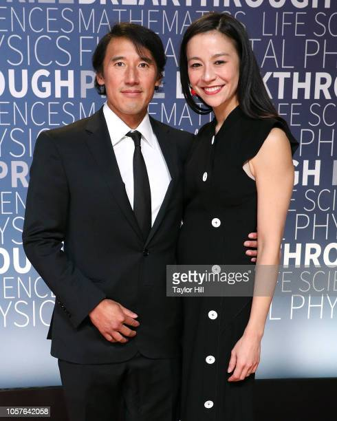 Jimmy Chin and Elizabeth Chai Vasarhelyi attend the 7th Annual Breakthrough Prize Ceremony at NASA Ames Research Center on November 4 2018 in...
